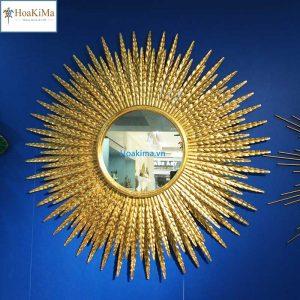 Gương bông lúa trang trí phòng khách Hkm300