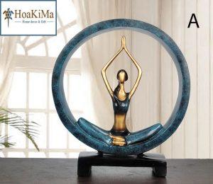 Tượng yoga trang trí độc đáo