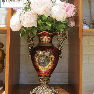 bình hoa tân cổ điển trang trí