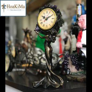 Đồng hồ để bàn nữ thần