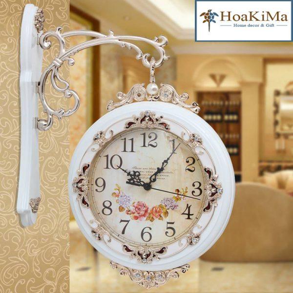 Đồng hồ trang trí hai mặt