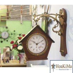 Đồng hồ ngôi nhà hai mặt DH18