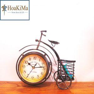 Đồng hồ để bàn trang trí hình xe đạp