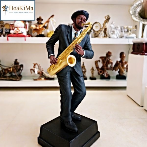 Tượng nghệ sĩ chơi saxophone trang trí
