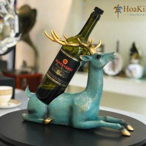 Kệ rượu hươu, trang trí kệ tivi phòng khách