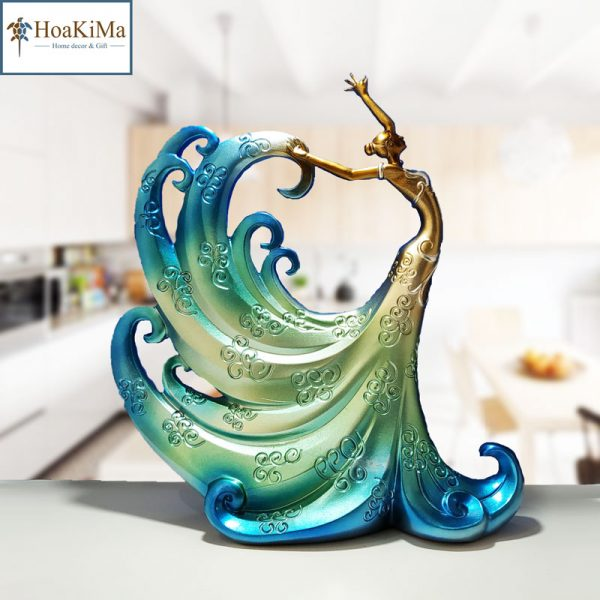 Tượng vũ nữ múa xanh