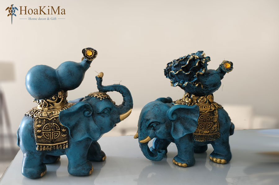 Trang trí ngày tết voi phú quý